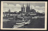 Nautical AK steamer Cologne Cathedral 1943 slogan cancel wholemeal bread