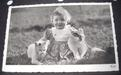Photo Card, Baby with cats, ca.1940