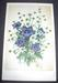 Floral greeting card, gentian, edelweiss, ca.1940