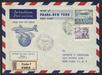 First Flight 1946 Praha (Czechosovakia) registred cover to New York (USA)